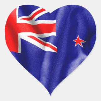 Bandera de Nueva Zelanda Pegatina En Forma De Corazón
