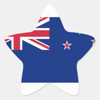 Bandera de Nueva Zelanda Pegatina En Forma De Estrella