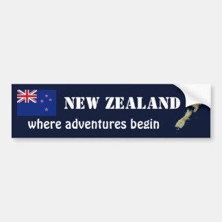 Bandera de Nueva Zelanda + Pegatina para el parach Pegatina Para Coche