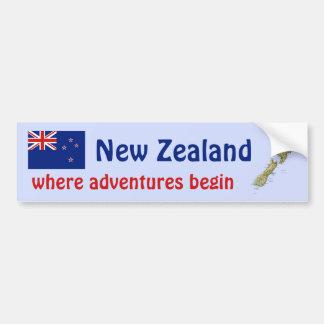 Bandera de Nueva Zelanda + Pegatina para el Pegatina Para Coche