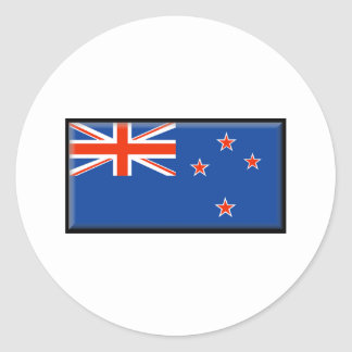 Bandera de Nueva Zelanda Pegatina Redonda