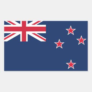 bandera de Nueva Zelandia Pegatina Rectangular