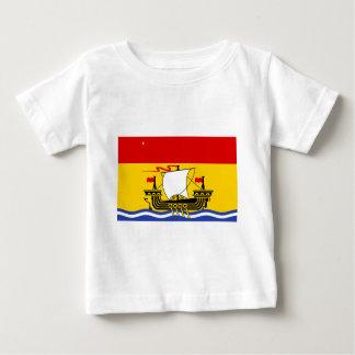 bandera de Nuevo Brunswick Camiseta De Bebé