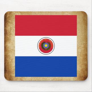 Bandera de oro de Paraguay Alfombrilla De Ratón
