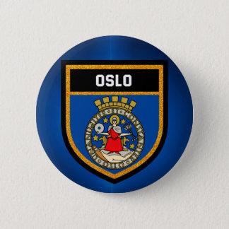 Bandera de Oslo Chapa Redonda De 5 Cm
