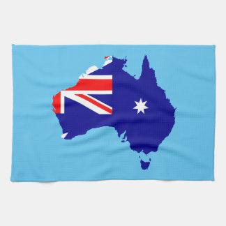 Bandera de país australiana paño de cocina