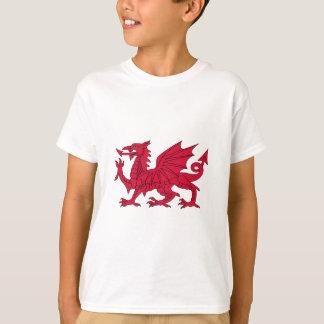 Bandera de País de Gales - el dragón rojo - Baner Camiseta