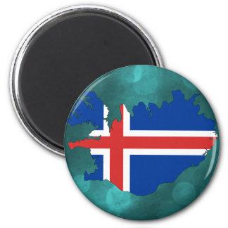 Bandera de país de Islandia Imán