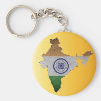 bandera de país de la India Llavero