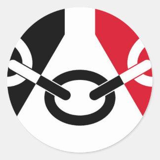 Bandera de País Negro Pegatina Redonda