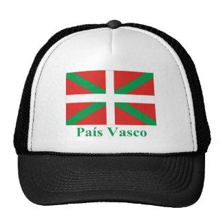 Bandera de País Vasco (Euskadi) con nombre Gorros
