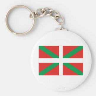 Bandera de País Vasco (Euskadi) Llavero Personalizado