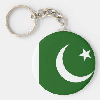 Bandera de Paquistán Llavero Redondo Tipo Chapa
