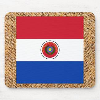 Bandera de Paraguay en la materia textil temática Alfombrilla De Ratón
