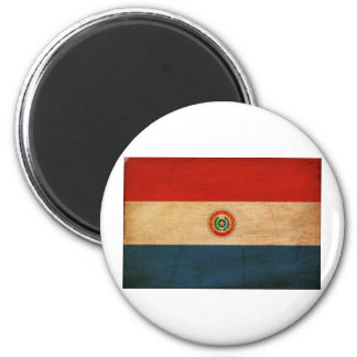 Bandera de Paraguay Imán Redondo 5 Cm