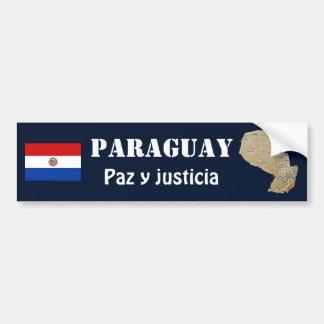 Bandera de Paraguay + Pegatina para el parachoques