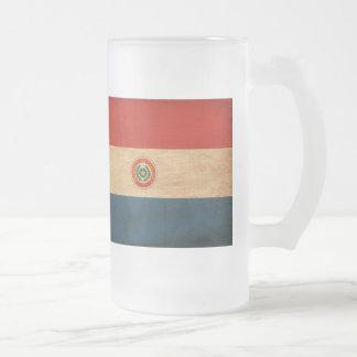 Bandera de Paraguay Taza De Cristal