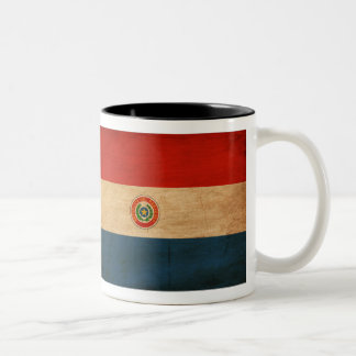 Bandera de Paraguay Taza De Dos Tonos