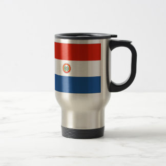 Bandera de Paraguay Taza De Viaje De Acero Inoxidable
