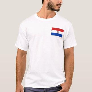 Bandera de Paraguay y camiseta del mapa