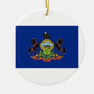 Bandera de Pennsylvania Ornamento De Navidad