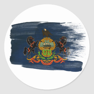 Bandera de Pennsylvania Etiqueta