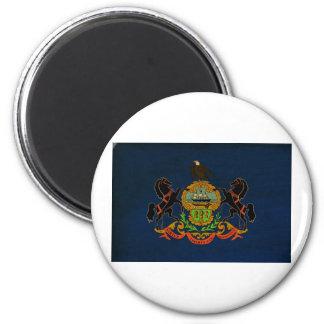 Bandera de Pennsylvania Imán Redondo 5 Cm