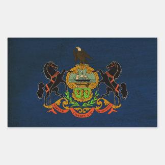 Bandera de Pennsylvania Rectangular Pegatina