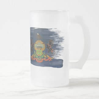 Bandera de Pennsylvania Taza Cristal Mate
