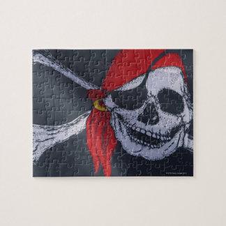 Bandera de pirata puzzle