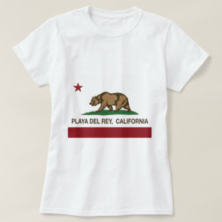 bandera de Playa del Rey California Camisetas