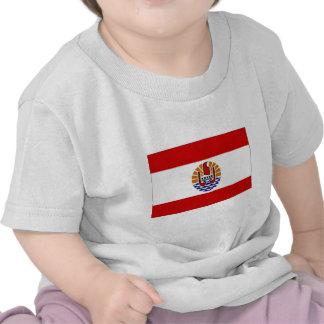 Bandera de Polinesia francesa Camisetas