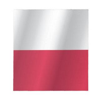 Bandera de Polonia Bloc De Notas