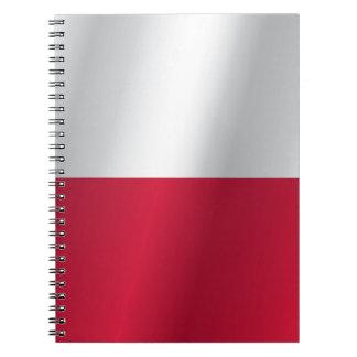 Bandera de Polonia Cuaderno