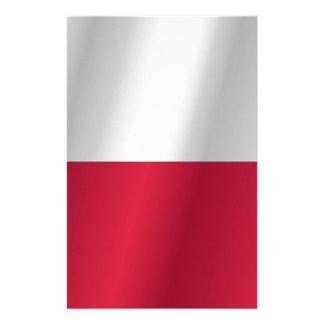 Bandera de Polonia Papelería