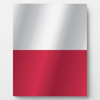 Bandera de Polonia Placa Expositora