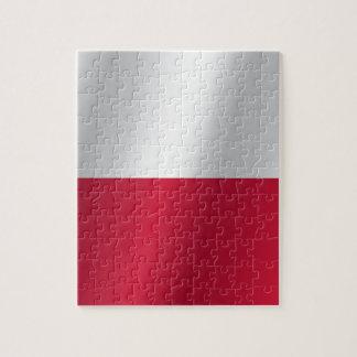 Bandera de Polonia Puzzle