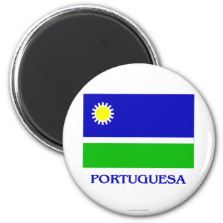 Bandera de Portuguesa con nombre Imanes