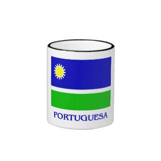 Bandera de Portuguesa con nombre Taza De Café