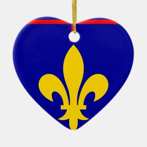 Bandera de Provence (suplente), Francia Ornaments Para Arbol De Navidad