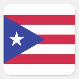 Bandera de Puerto Rico - Bandera de Puerto Rico Pegatina Cuadrada