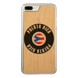 Bandera de Puerto Rico simple Funda Para iPhone 7 Plus De Carved
