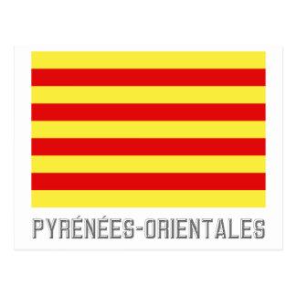 Bandera de Pyrénées-Orientales con nombre Postal