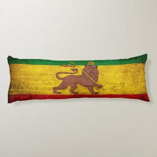 Bandera de Rastafarian del Grunge del vintage Almohada De Cuerpo Entero