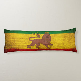 Bandera de Rastafarian del Grunge del vintage Almohada Larga