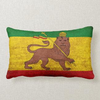 Bandera de Rastafarian del Grunge del vintage Cojin