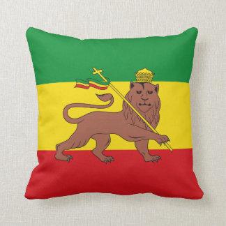 Bandera de Rastafarian del león de Etiopía de Cojín Decorativo
