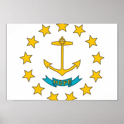 Bandera de Rhode Island Poster