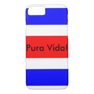 ¡Bandera de Rican de la costa con Pura Vida! caso Funda iPhone 7
