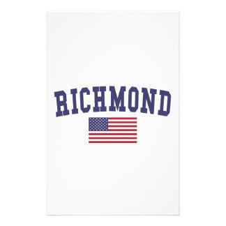 Bandera de Richmond VA los E.E.U.U. Papelería De Diseño